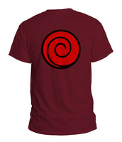 Uzumaki Clan Symbol on back Naruto Men T-shirt / Tee