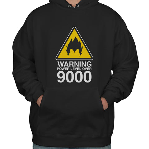 Warning Power Level Over 9000 Unisex Pullover Hoodie