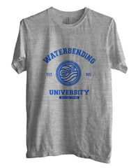 Waterbending University Blue ink print Avatar Water Bender Men T-shirt - Meh. Geek