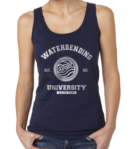 Waterbending University White Ink print Avatar Water Bending Unisex Women Tank top - Meh. Geek