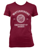 Waterbending University Bw ink Avatar Waterbender Women T-shirt Tee