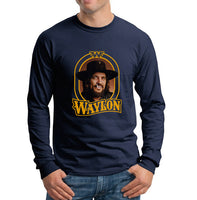 Waylon Jenning Color Men Long Sleeve T-shirt Tee