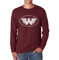 Waylon Jenning Round logo Men Long Sleeve T-shirt Tee