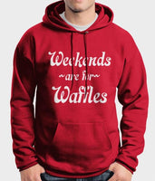 Weekends are for Waffles Unisex Pullover Hoodie