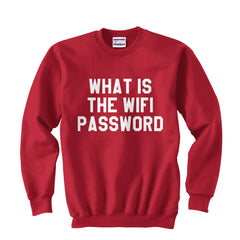 What Is The Wifi Password Unisex Crewneck Sweatshirt - Meh. Geek - 7