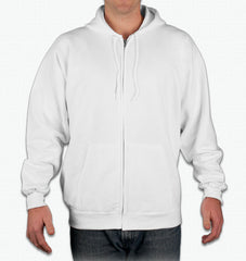 Millennium Falcon on back only, Blank front Unisex Zip Up Hoodie