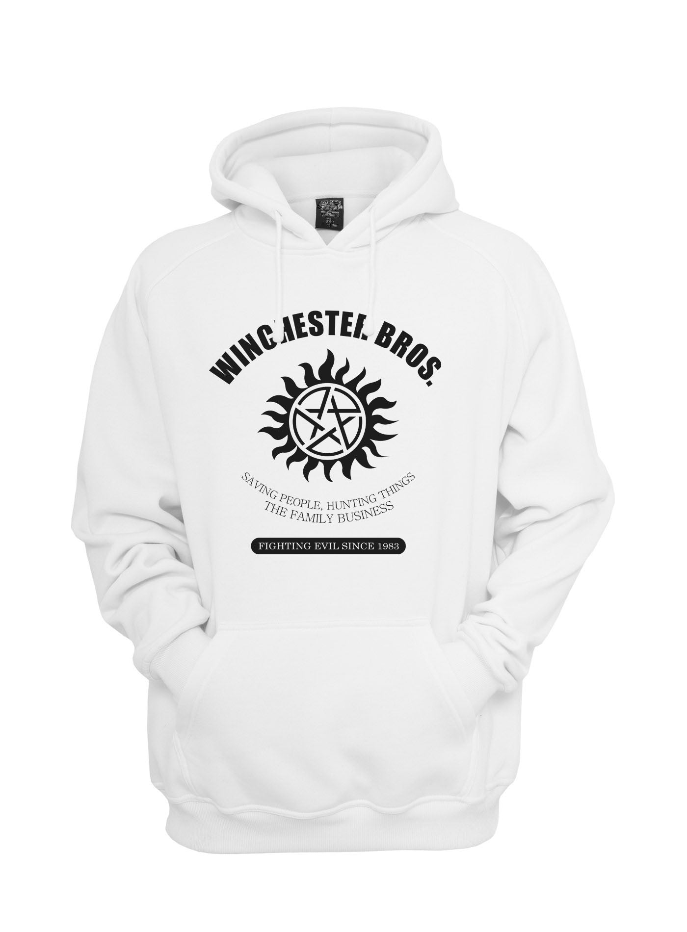 a884f42fb496f 36.00 USD Winchester Saving People Hunting Things The Family Business  Unisex Pullover Hoodie - Meh.