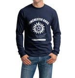 Winchester Bros Saving People Hunting Things The Family Business Long Sleeve T-shirt for Men - Meh. Geek