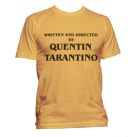Written and Directed By Quentin Tarantino Men T-shirt / Tee