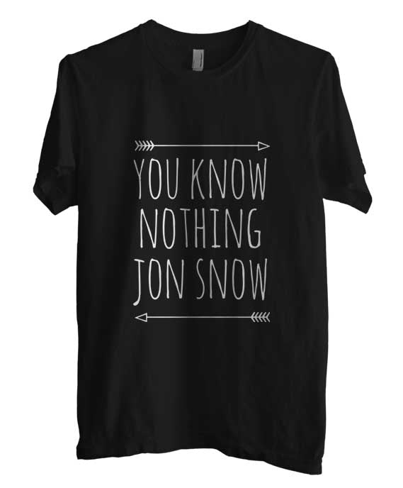 You Know Nothing Jon Snow T-shirt Men - Meh. Geek - 3