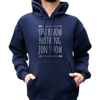 You Know Nothing Jon Snow Game of Thrones Unisex Pullover Hoodie - Meh. Geek - 4