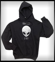 Your Planet Is Next Alien Head Unisex Pullover Hoodie - Meh. Geek - 3