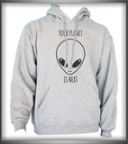 Your Planet Is Next Alien Head Unisex Pullover Hoodie - Meh. Geek - 4