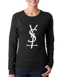 YSL Cross Yves Saint Lauren Long sleeve T-shirt for Women