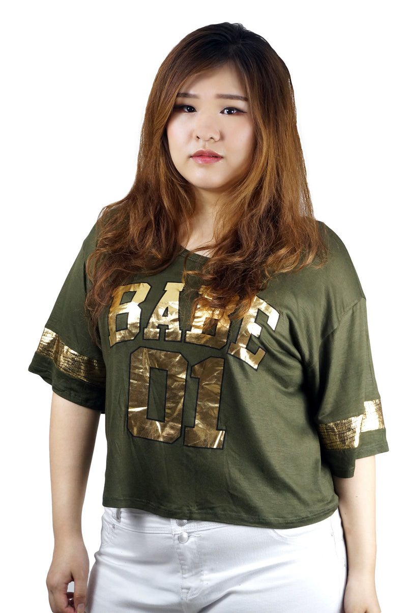 BABE 01 Olive Crop Top