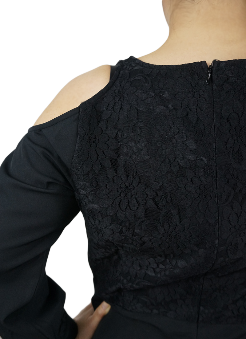 Black Lace Jumper