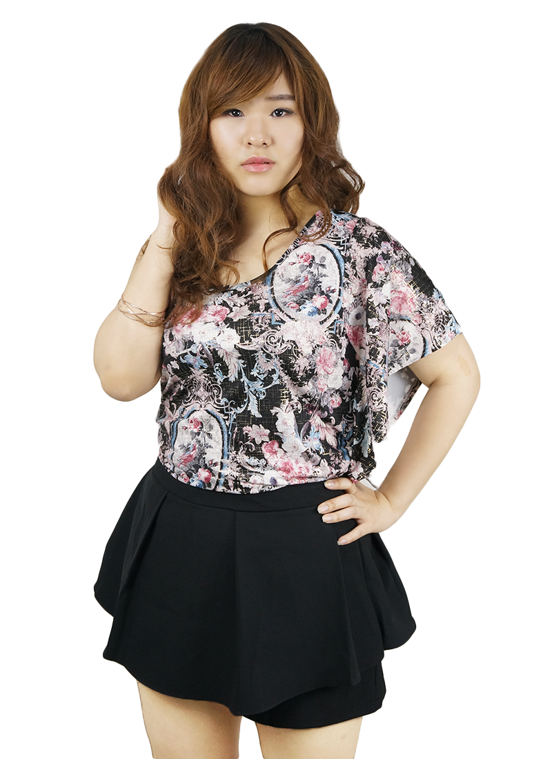 Single Sided Ruffles Sleeves Top