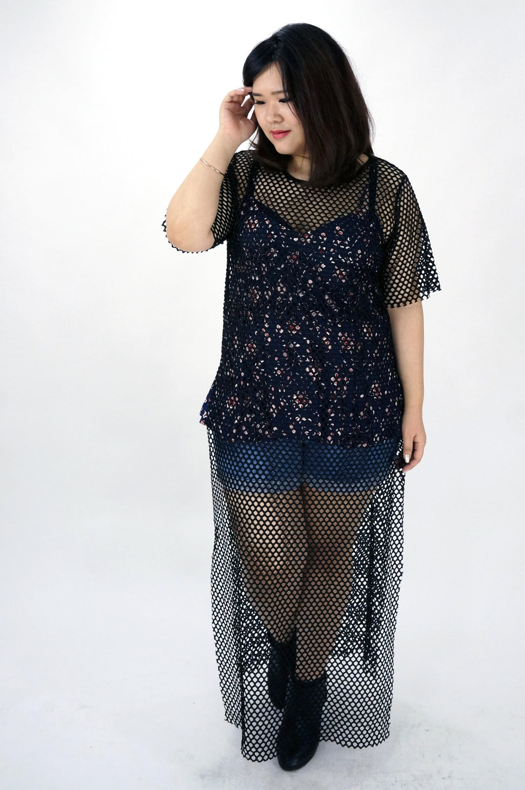 Fishnet Maxi Dress Top