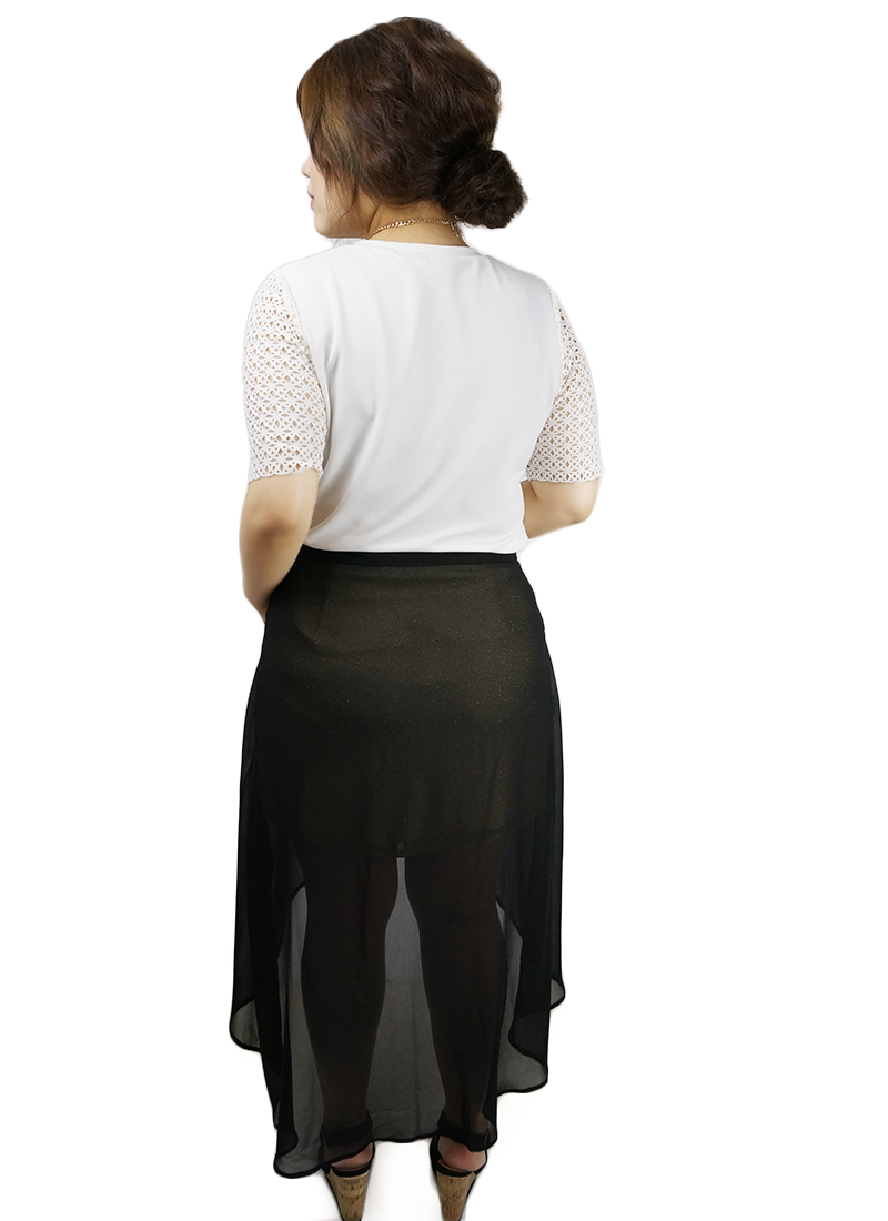 Hi-Low Black Gold Skirt
