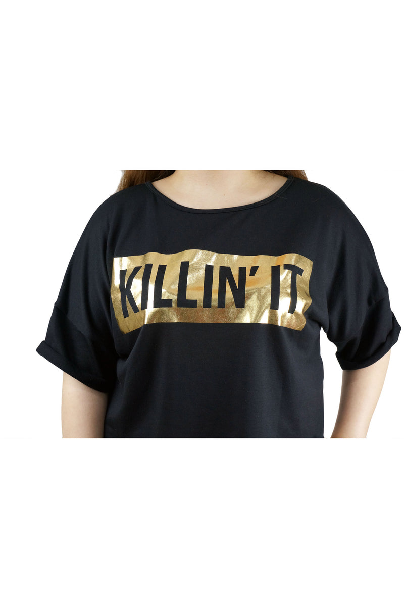 KILLIN IT Black Crop Top