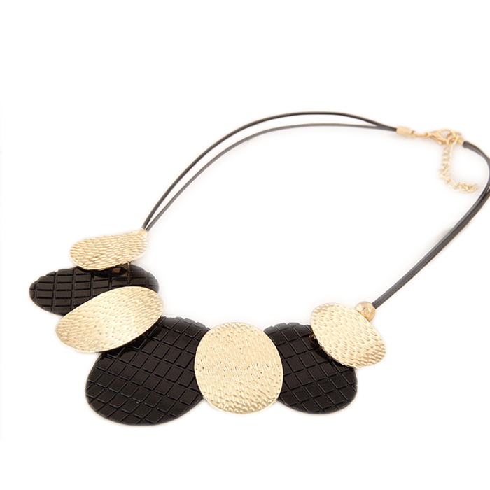 Black Gold Simple Necklace