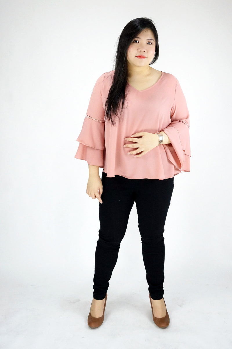 Blush Ruffled Sleeve Top