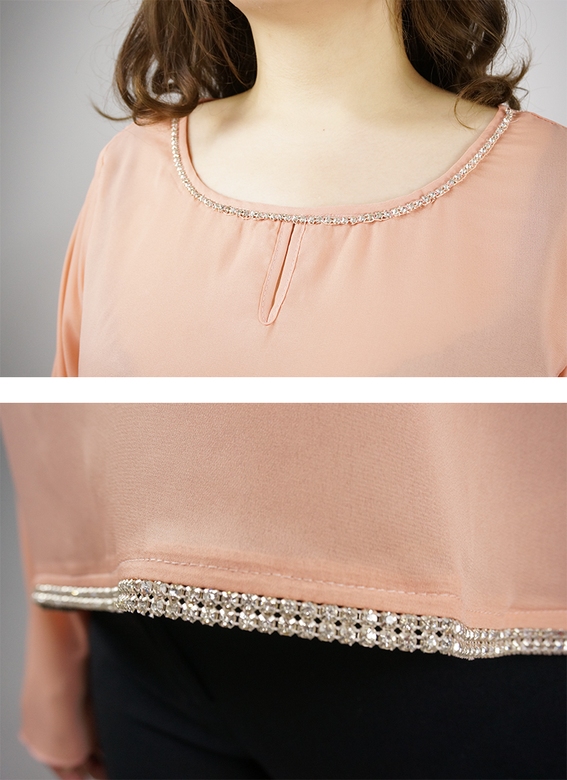 Embellished Peach Top
