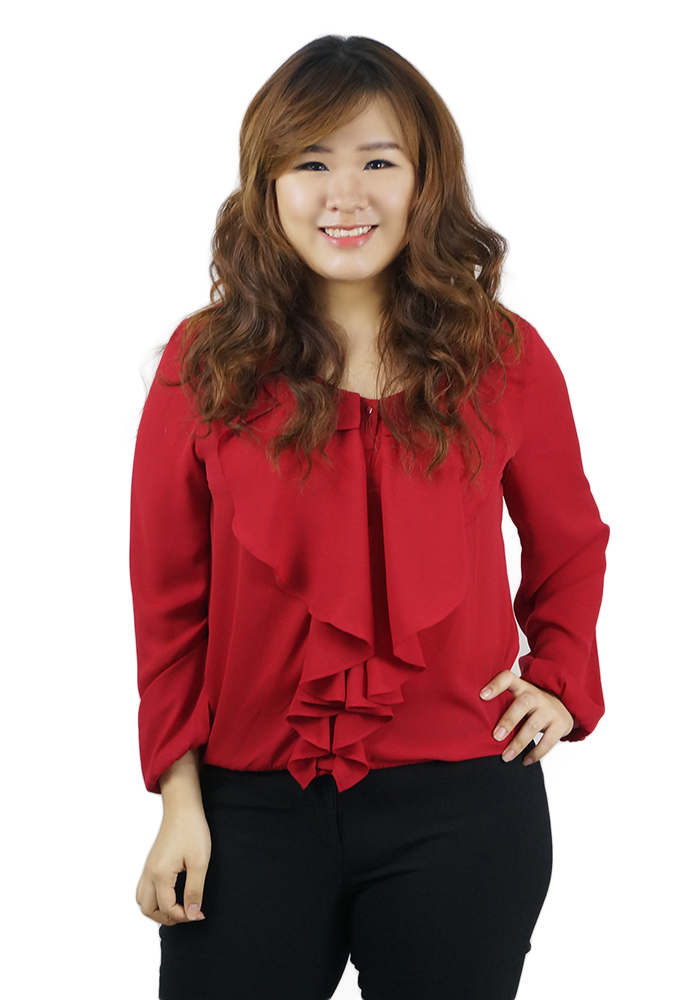 Ruffle Red Blouse