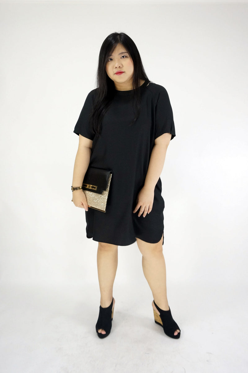 Round Neck Short Sleeve T-shirt Dress