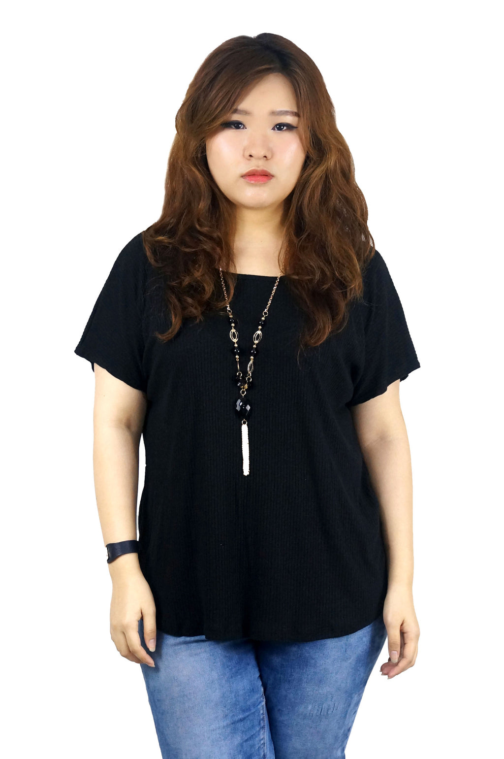 Short Sleeve Black Boxy Tee