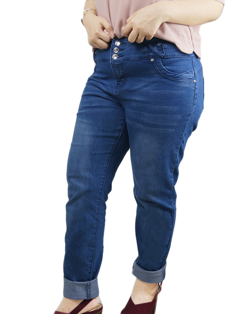 Triple button Denim Jeans