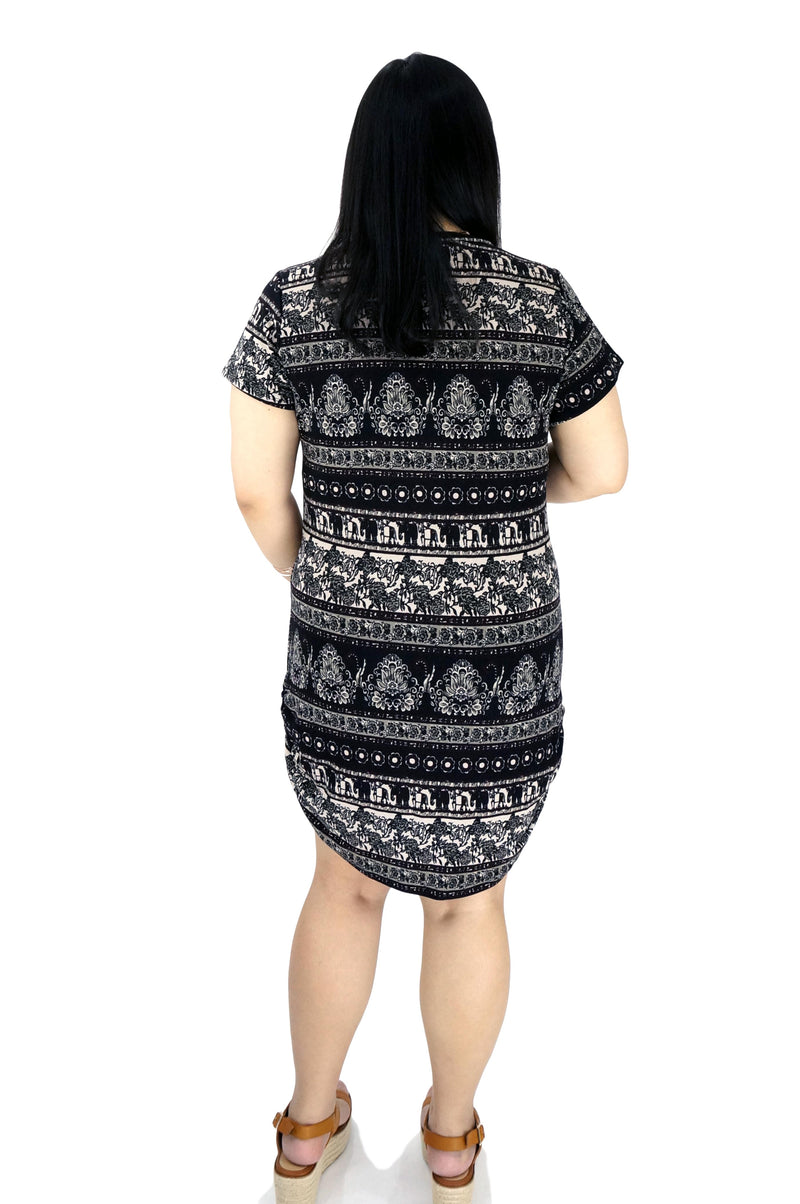 Tribal Hatchi Shift Dress