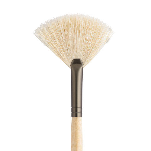 White Fan Brush