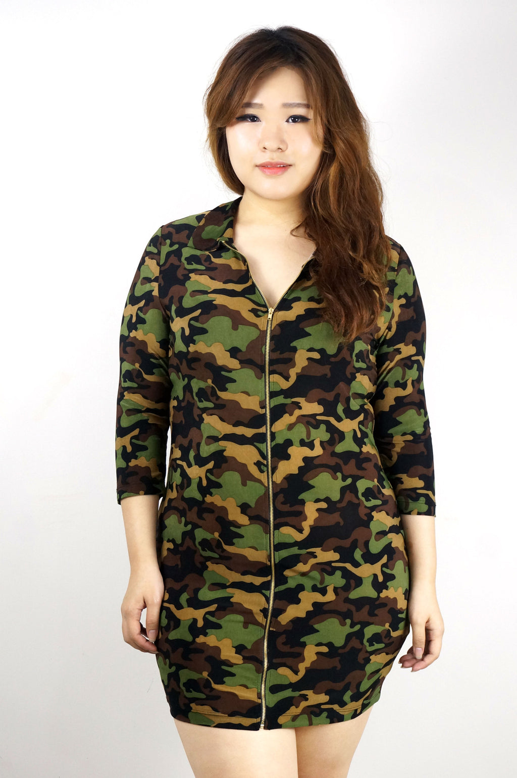 ARMY MINI BODYCON DRESS