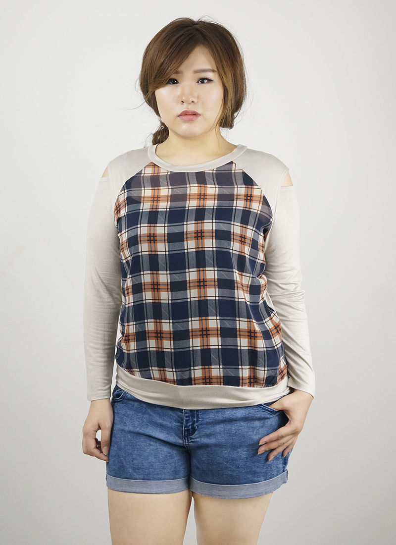 Sand Navy Hazel Top