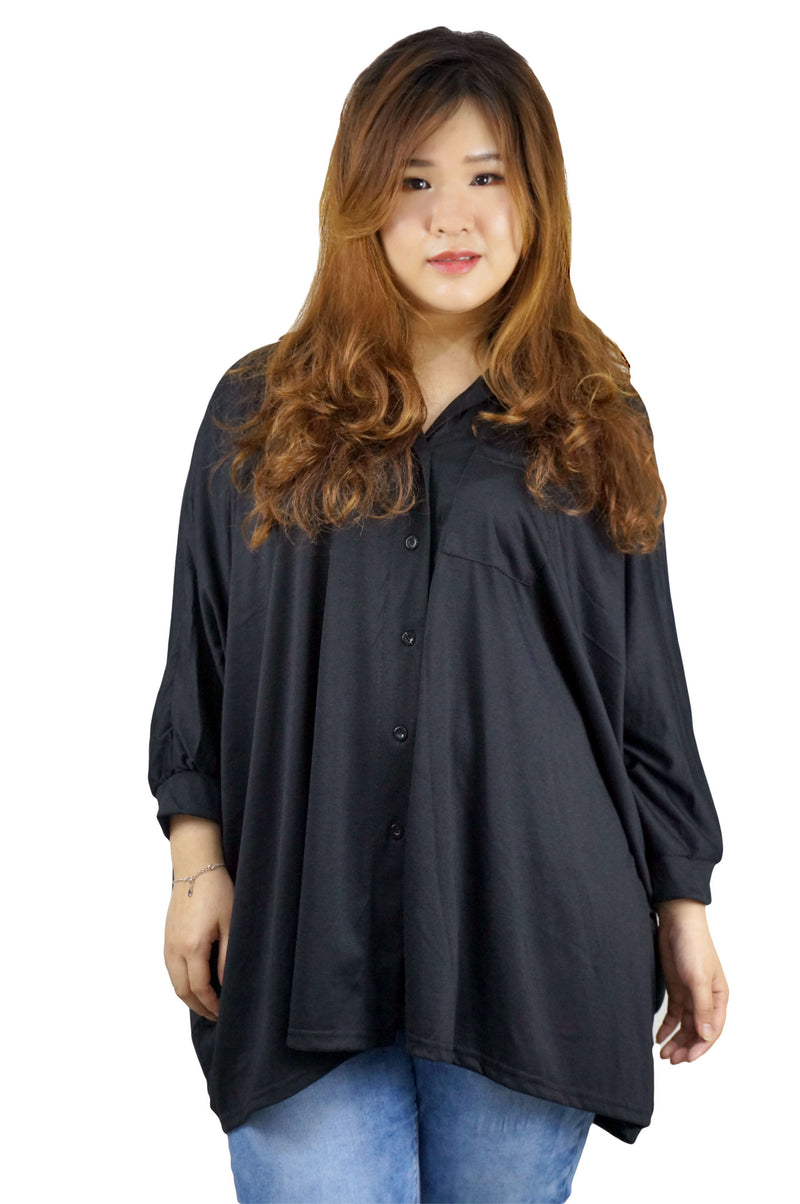 Batwing Long Tunic Top