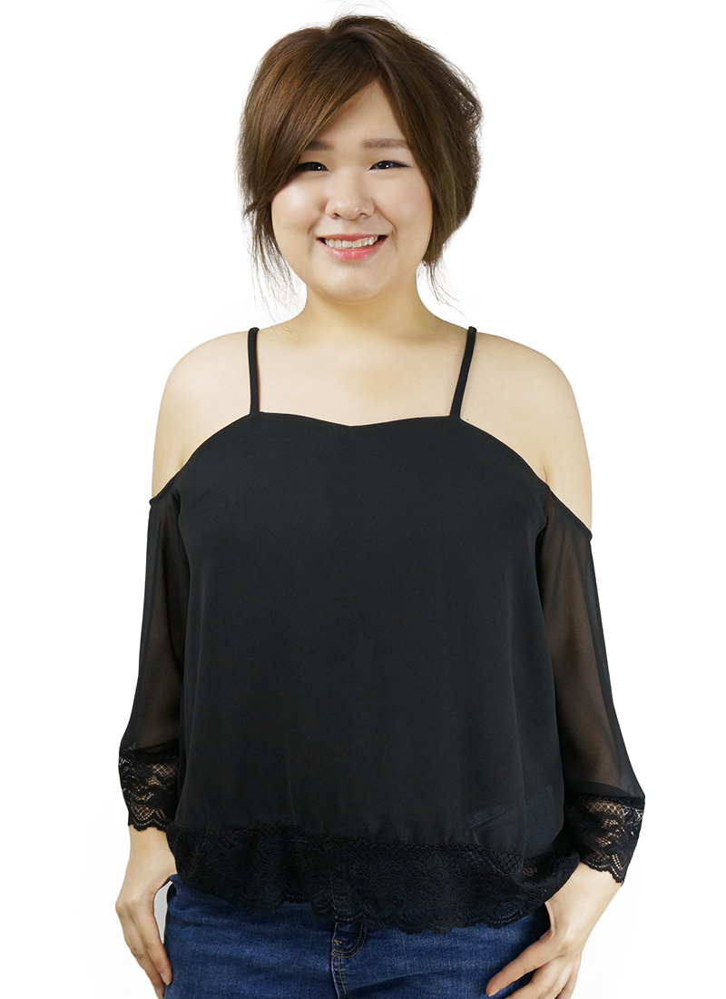 plus size top with lace