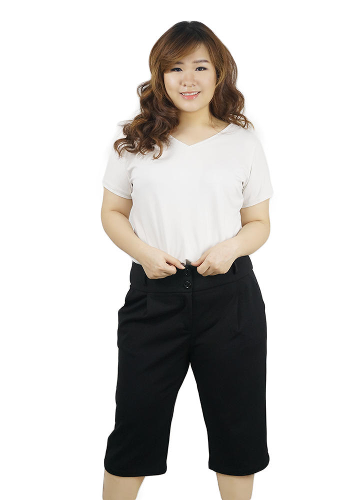 Plus size ladies crop pants