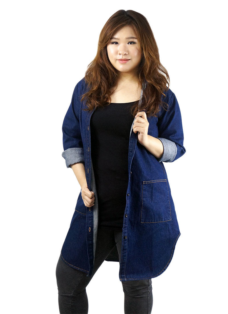 Dark Denim Long Top