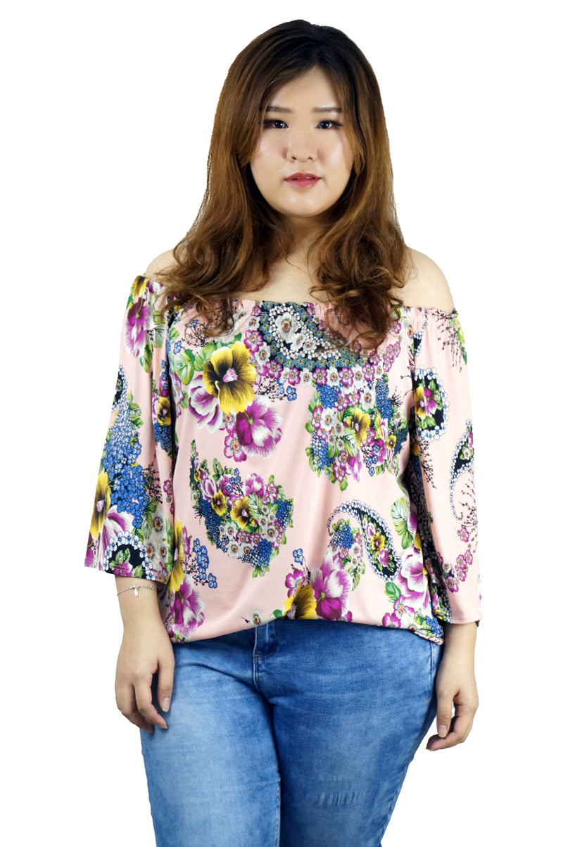 Off Shoulder Floral Printed Top