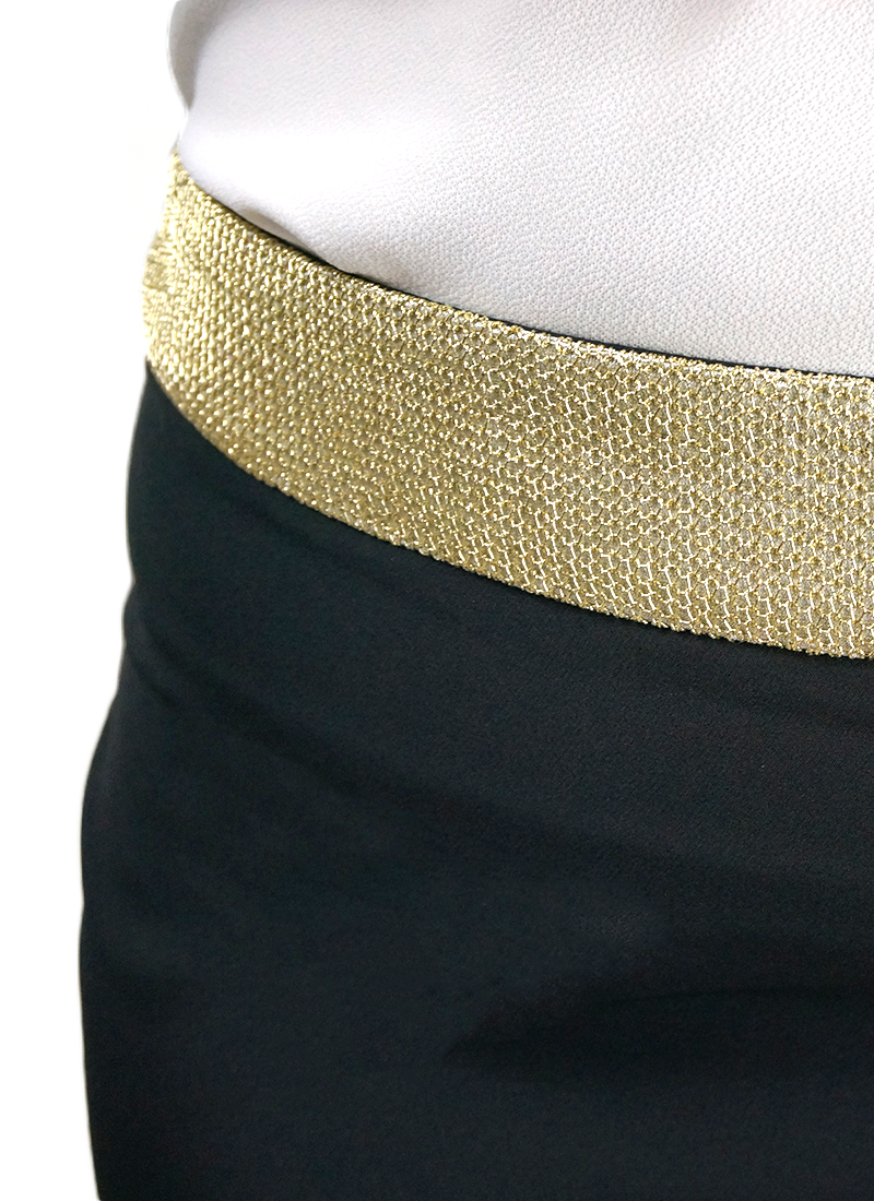 Gold Band Tight Fit Skirt