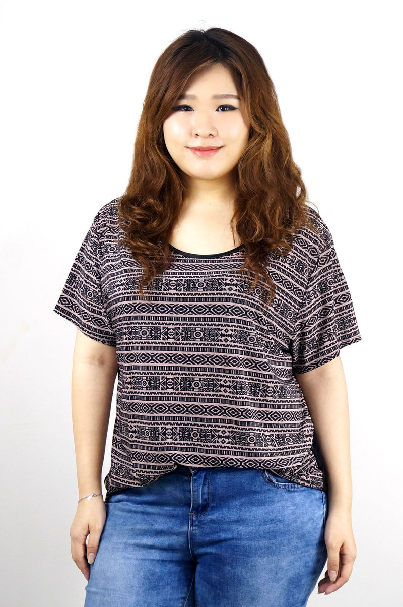 MAUVE TRIBAL TOP