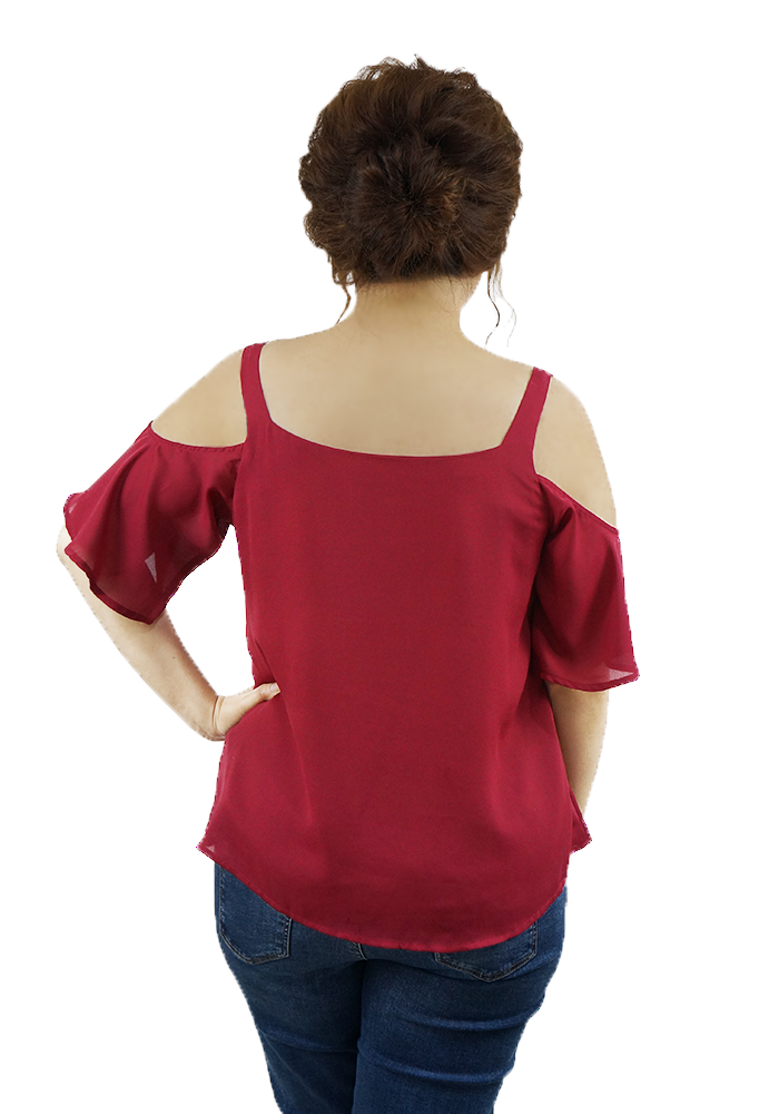 Orared Off Shoulder Top