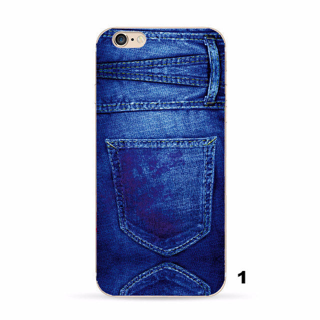 Sheriff Denim cases cover For Apple iPhone 6