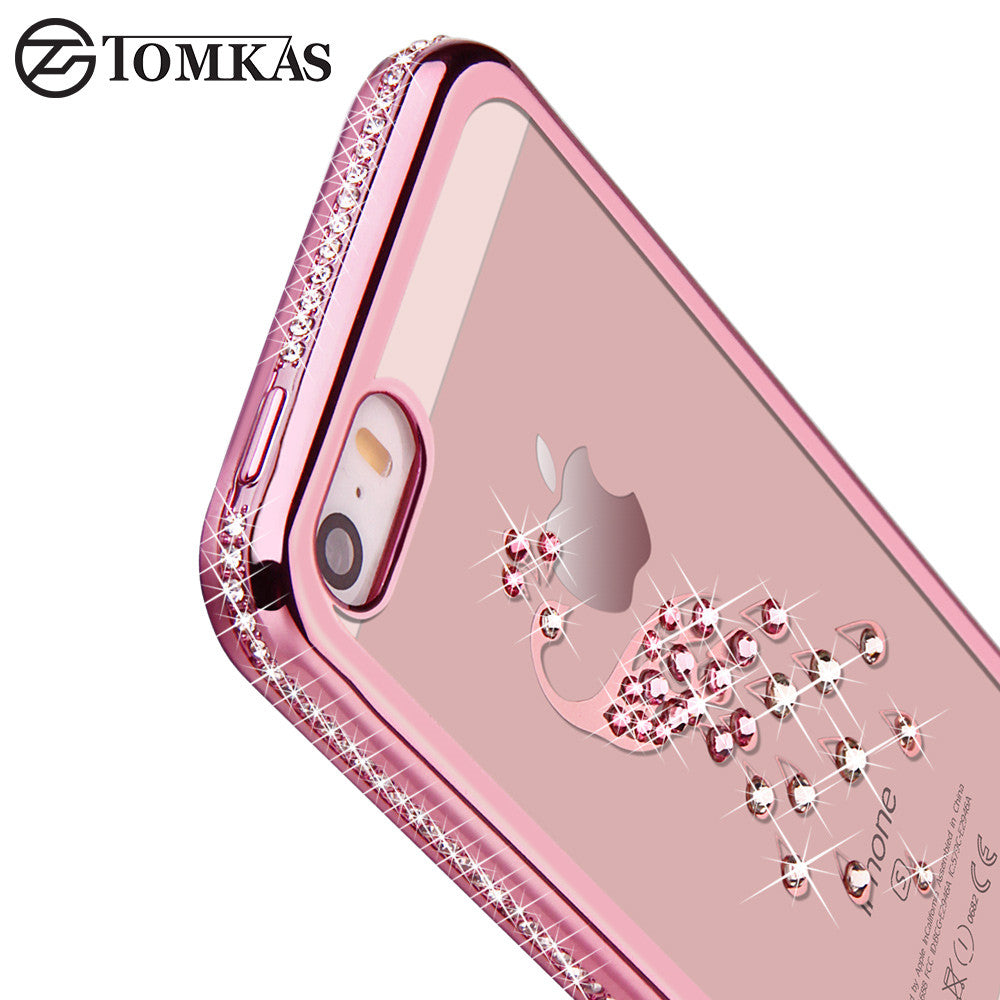 Rhinestone Silicone Case For iPhone 6+/5S/SE/5