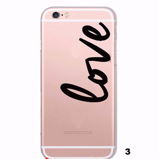 Unique Portuguese Words Love Transparent Case For Iphone 6+