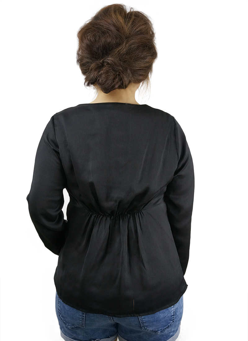 Silky Black Blouse
