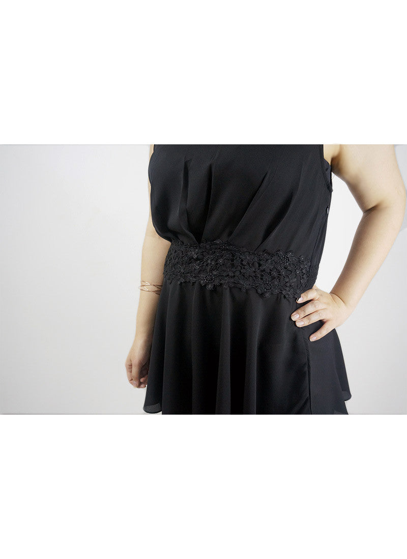Sleeveless Chiffon Lace Top