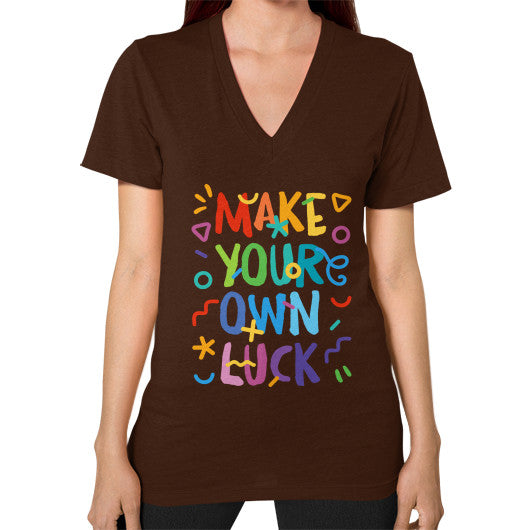 Make your Own Luck V-Neck T-Shirt - Serob  - 5