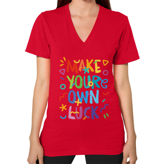 Make your Own Luck V-Neck T-Shirt - Serob  - 12